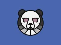 Cool Panda panda glasses animation color pantone monogram graphic design illustration branding logo design
