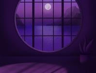 Moonlight animation procreate twilight pantone graphic design logo design illustration moon