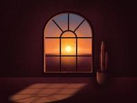 Summer Days summer animation branding sunrise sunset procreate app logo pantone graphic design illustration design