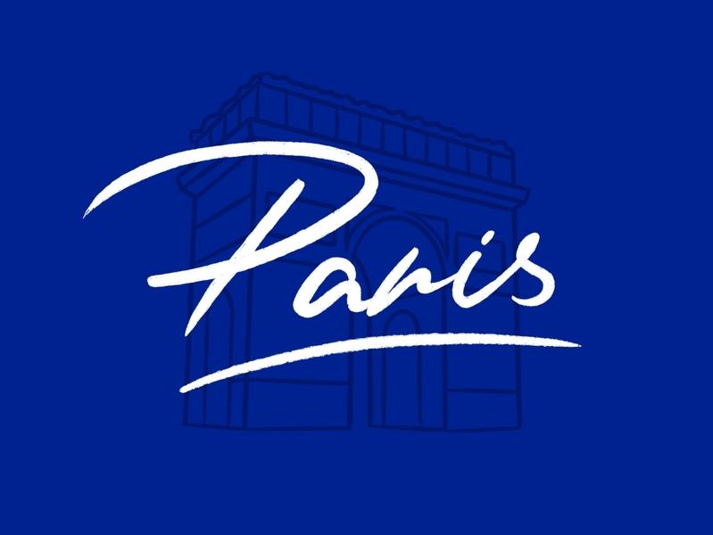 Paris paris caligraphy app typography monogram pantone handmade graphic design illustration logo design