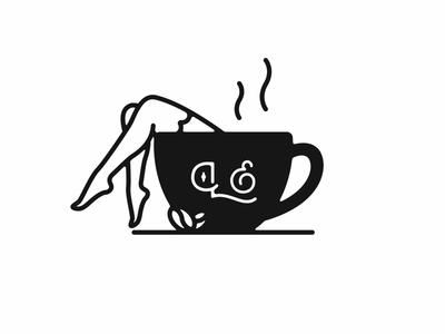 Legs Eleven Coffee legs coffee handmade vector monogram branding illustration logo design