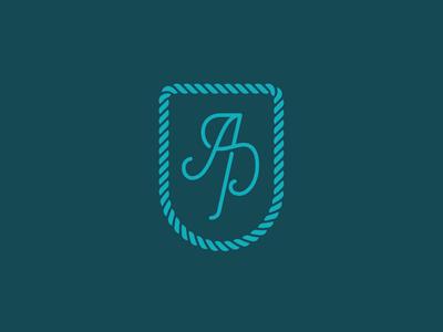 Atlantic Pearl Monogram design sea icon pantone typography handmade logo monogram