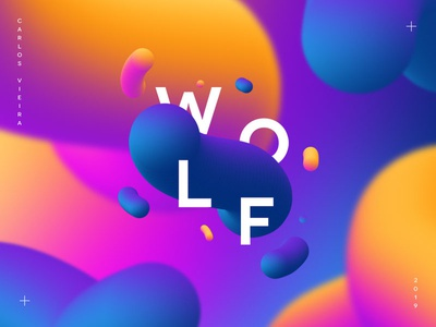 Fluid Wolf animation icon logotype color ui ux app graphic design pantone illustration vector handmade branding logo design