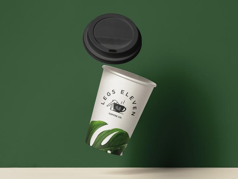 Legs Eleven Coffee | Cup coffee cup graphic design typography monogram logotype illustration handmade branding logo design