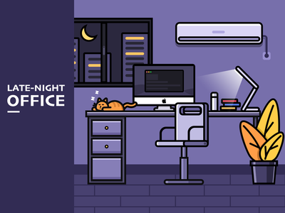 Late night office