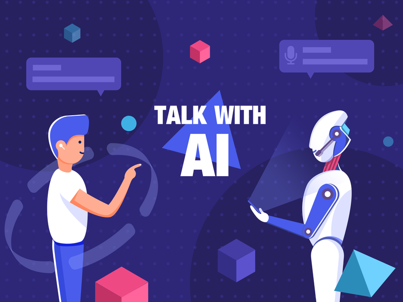 Talk With Ai technology intelligent voice artificial intelligence ai illustration