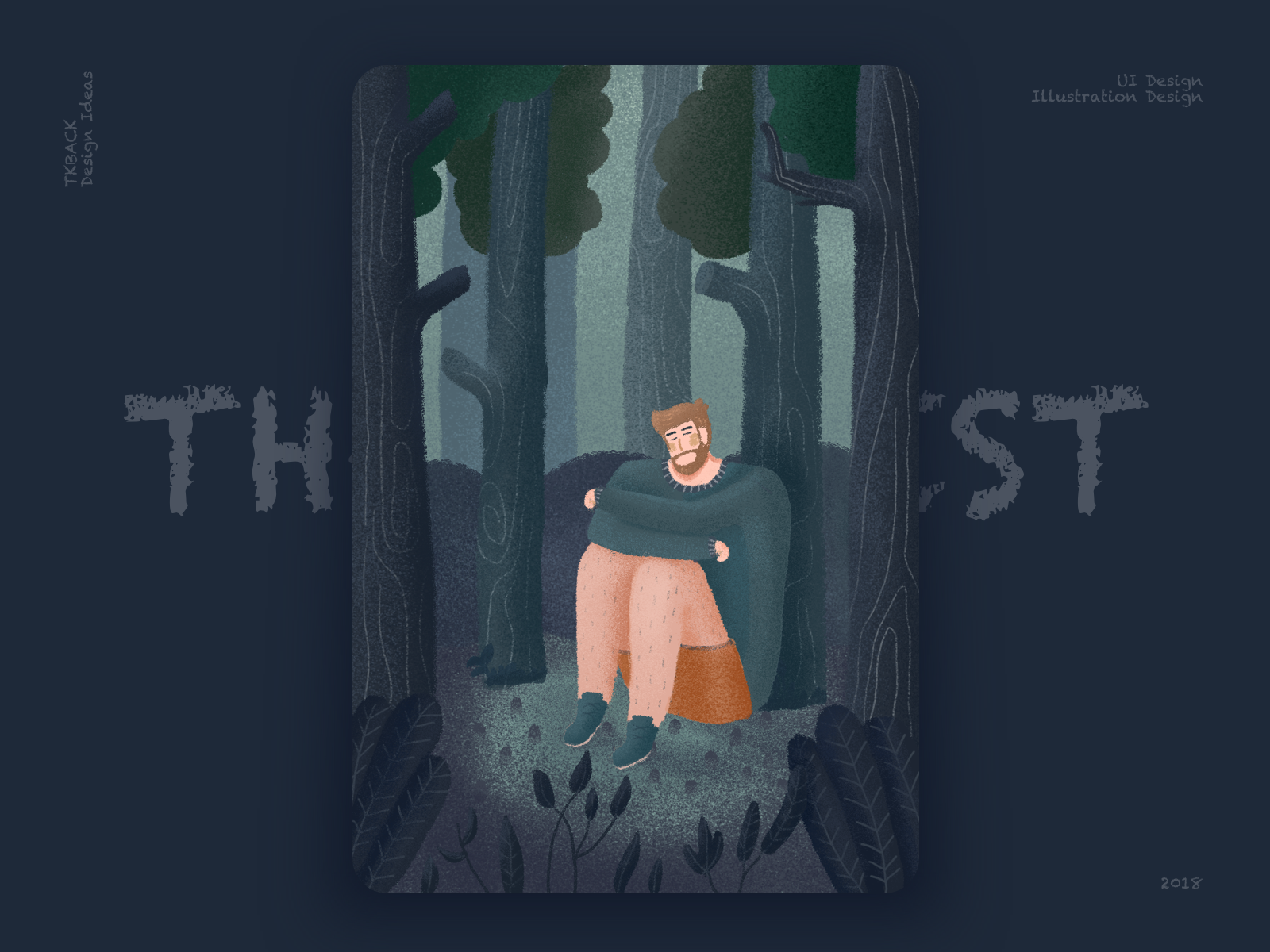 The Forest logo animation interface ux web colour illustration design ios11 dark ui animal