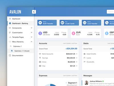 Avalon Theme & Layout bootstrap template layout enterprise design crm admin dashboard avalon