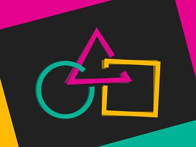 Harmony Logo icon logo primeng primefaces pink teal yellow square triangle circle harmony branding