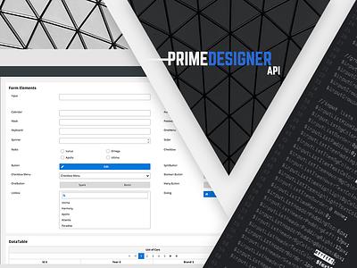 Prime Designer artwork tool developer font icon sass css primeng primefaces api designer prime