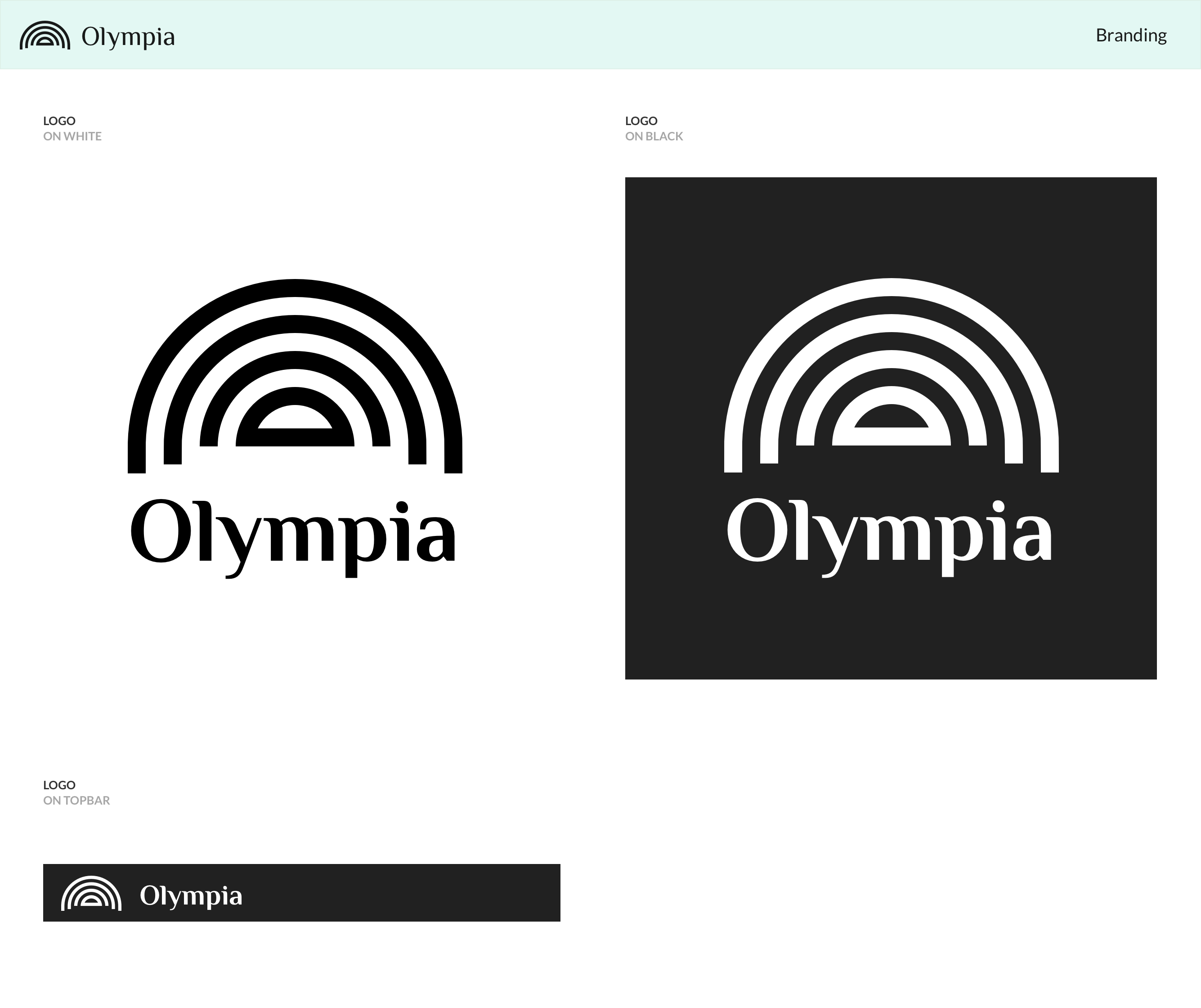 Olympia branding full