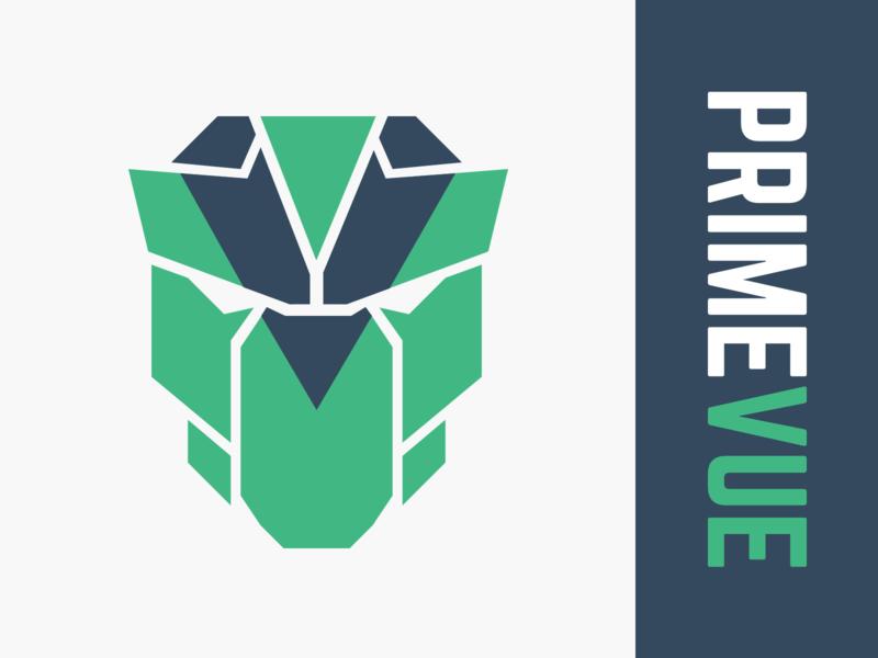 PrimeVue Logo vue primevue logo library vue.js primefaces illustration icon vector branding