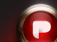 P in retro button
