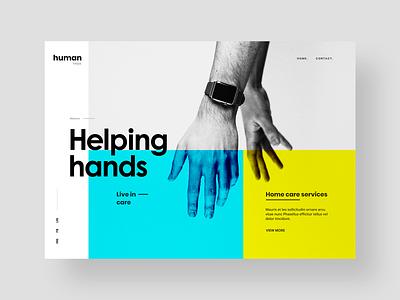 Halping Hands : Non-profitable organization website design website flat web soft colors organisation non-profitable typography light clean design