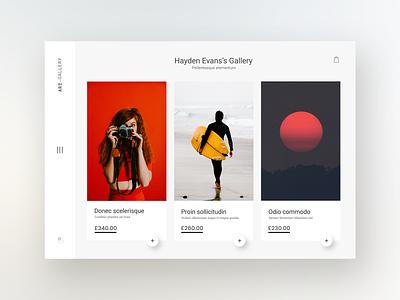Art gallery & auction house website design concept minimal gallery art ui art image web creative website clean design