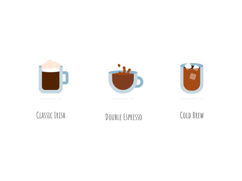 Mood for Coffee vector drink delicious flat icons iconset iconstyle icon set cold brew espresso coffee irish