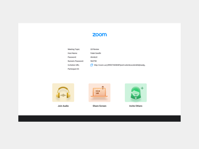 Zoom Icons   Redesign icon design icons typography ux branding ui webapp zoom meeting