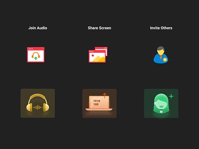 Zoom Icons - Dark theme iconset icons illustration ui