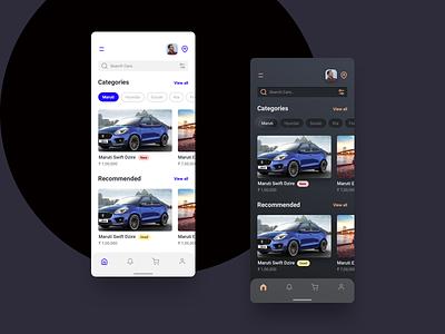 Car Store Mobile App ios car store app android mobile app ux design ui