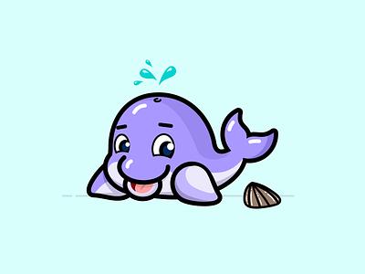 Echo - The Dolphin aquatic sea dolphin reef dolphin disney character vector flat design illustration ui