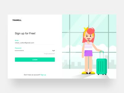 Travel website Signup