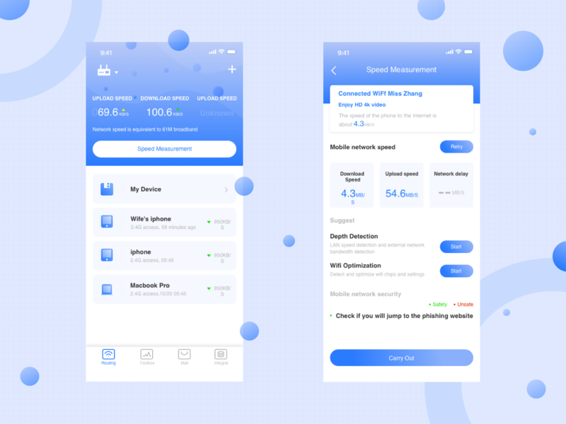 About wifi app ui design