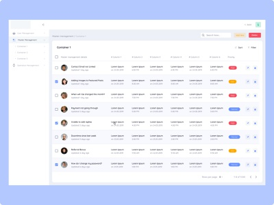 Master management admin crm dashboard design webapp uidesign white