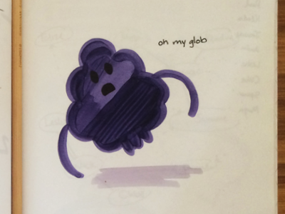 Oh My Glob fan art adventure time lumpy space princess lsp markers repap sketch