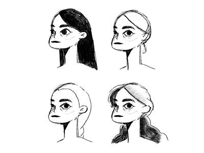 Girl + Curiosity #2 hand drawn sketch illustration art direction character design design girl