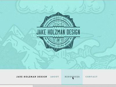 Portfolio Site website graphic design portfolio minimal outdoors mountains explosion waves ocean html5