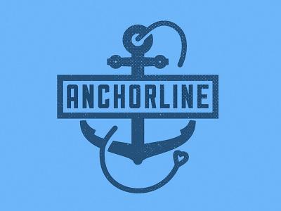 Anchorline - Logo/Branding logo branding 2d anchor heart minimal san-serif graphic design non-profit charity christ love