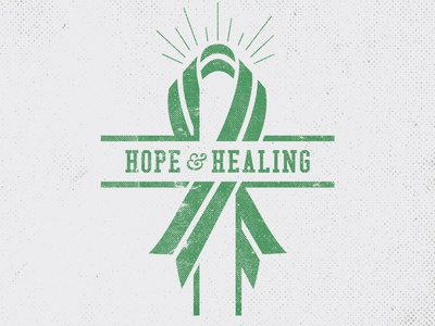 Hope & Healing for Sandy Hook logo graphic design minimalist branding identity black and white badge cross christ christian vector