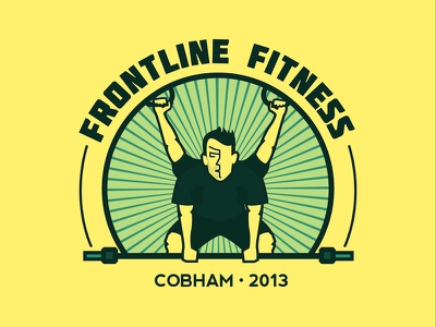 Frontline Fitness - Logo/Identity logo branding identity gym badge artistic direction corporate identity fitness health weights icon iconography frontline crossfit graphic design
