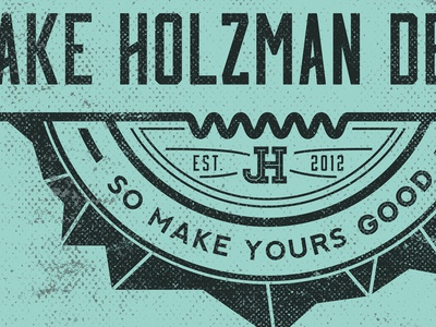 Jake Holzman Design - Badge badge black and white identity branding graphic design minimalist logo catch phrase quote retro vintage pop art texture grunge distressed diamond geometric est wip