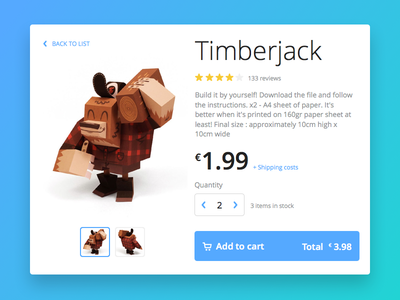Day 002 - Product Card store cart shop ecommerce ux flat challenge ui card product