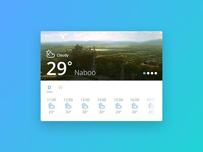 Day 010 - Weather Widget slider temperature ui ux modular flat tabs widget weather