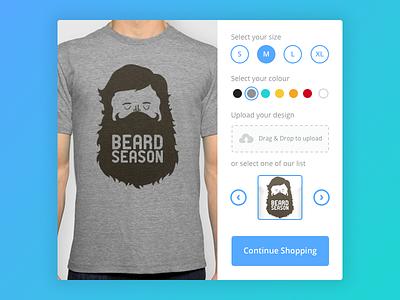 Day 015 - T-Shirt Creator colour shopping ecommerce customize shop ui ux design t-shirt