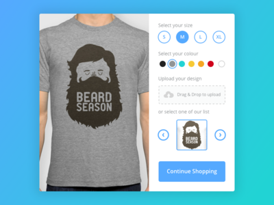Day 015 - T-Shirt Creator colour shopping ecommerce customize shop ui ux design t-shirt