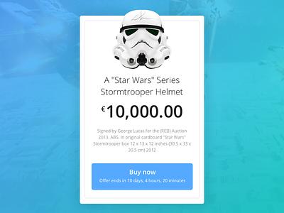 Day 017 - Special Offer stormtrooper helmet module flat ui ux timer ecommerce promo card starwars