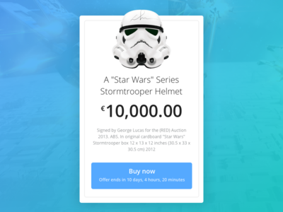 Day 017 - Special Offer stormtrooper helmet module flat ui ux timer ecommerce promo card starwars