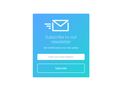 Day 022 - Newsletter Subscription Card signup flat envelope email subscribe form newsletter