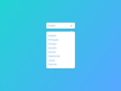 Day 023 - Language Selector styleguide ui ux design dropdown flat selector language