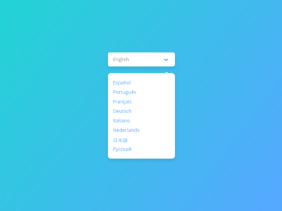 Day 023 - Language Selector styleguide ui ux design dropdown flat selector language