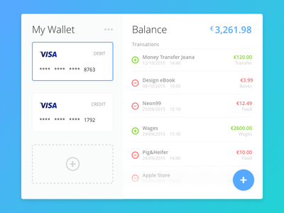 Day 024 - Wallet tracking wallet transactions expenses debit currency credit money card