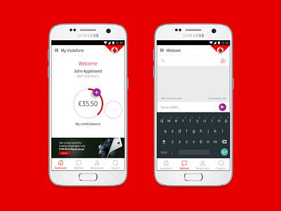 Dashboard & Webtext ux design contacts webtext dashboard vodafone