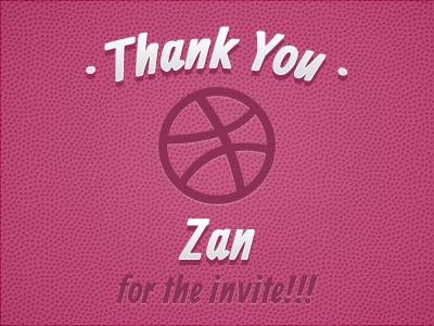 Thanks to Zan
