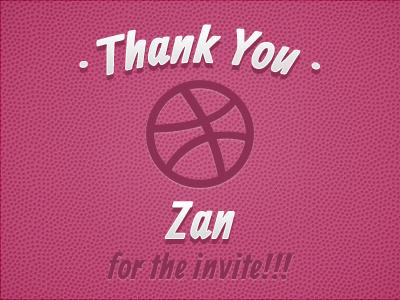 Thanks to Zan thank you shot thank you dribbble debut