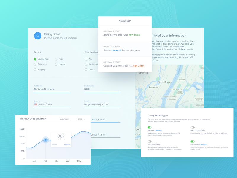 Statistics Dashboard Design for Distributors ux ui kit dashboard statistic form elements analytics startup product zajno