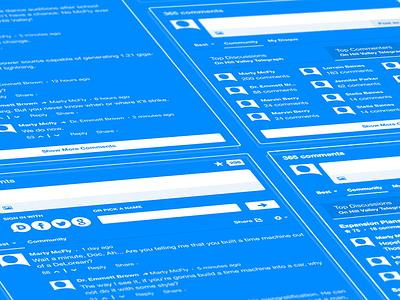 Disqus Blueprint disqus icons wireframe vector blueprint avatars comments social