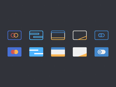 Credit Cards credit cards psddd wireframe psd icons visa mastercard flat